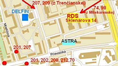 Mapka 1 - rds sklenárova 14 - mhd , mapka 2 - rds sklenárova 14